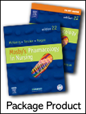 cover image - Mosby's Pharmacology in Nursing - Text and Study Guide Package,22nd Edition