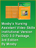 cover image - Mosby's Nursing Assistant Video Skills - Institutional Version DVD 3.0 Package,3rd Edition