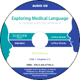 cover image - Audio CDs for Exploring Medical Language,8th Edition