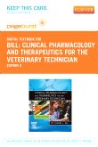cover image - Clinical Pharmacology and Therapeutics for the Veterinary Technician - Elsevier eBook on VitalSource (Retail Access Card),3rd Edition