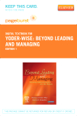 cover image - Beyond Leading and Managing - Elsevier eBook on VitalSource (Retail Access Card)