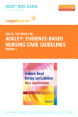 cover image - Evidence-Based Nursing Care Guidelines - Elsevier eBook on VitalSource (Retail Access Card)
