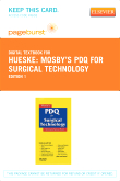 Mosby's PDQ for Surgical Technology - Elsevier eBook on VitalSource (Retail Access Card)