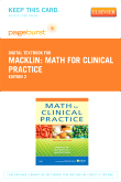 Math For Clinical Practice - Elsevier eBook on VitalSource (Retail Access Card), 2nd Edition