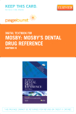 Mosby's Dental Drug Reference - Elsevier eBook on VitalSource (Retail Access Card), 9th Edition
