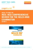 cover image - HESI Comprehensive Review for the NCLEX-RN® Examination - Elsevier eBook on VitalSource (Retail Access Card),3rd Edition