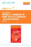cover image - Handbook of Home Health Standards - Revised Reprint - Pageburst E-Book on VitalSource (Retail Access Card),5th Edition