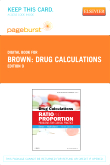 cover image - Drug Calculations - Elsevier eBook on VitalSource (Retail Access Card),9th Edition