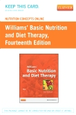 Nutrition Concepts Online for Williams' Basic Nutrition and Diet Therapy (Access Code), 14th Edition