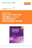 cover image - 2012 ICD-9-CM for Hospitals, Volumes 1, 2 and 3 Professional Edition - Elsevier eBook on VitalSource (Retail Access Card)
