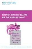 Elsevier Adaptive Quizzing for the NCLEX-RN Exam (36-Month) (Retail Access Card)