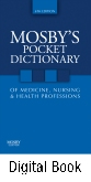 cover image - Mosby's Pocket Dictionary of Medicine, Nursing & Health Professions - Elsevier eBook on Intel Education Study,6th Edition