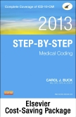 cover image - Step-by-Step Medical Coding 2013 Edition - Text, Workbook, 2014 ICD-9-CM for Hospitals, Volumes 1, 2, & 3 Professional Edition, 2014 ICD-10-CM Draft Standard Edition, 2013 HCPCS Level II Professional Edition and 2013 CPT Professional Edition Package