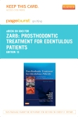 Prosthodontic Treatment for Edentulous Patients- Elsevier eBook on Intel Education Study (Retail Access Card), 13th Edition