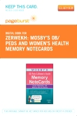 Mosby's OB/Peds & Women's Health Memory NoteCards - Elsevier eBook on VitalSource (Retail Access Card)
