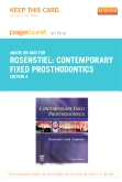 Contemporary Fixed Prosthodontics - Elsevier eBook on Intel Education Study (Retail Access Card), 4th Edition