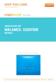 Sedation - Elsevier eBook on Intel Education Study (Retail Access Card), 5th Edition