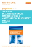 cover image - Clinical Manifestations and Assessment of Respiratory Disease - Elsevier eBook on Intel Education Study (Retail Access Card),6th Edition