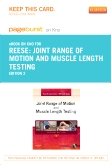 Joint Range of Motion and Muscle Length Testing - Elsevier eBook on Intel Education Study (Retail Access Card), 2nd Edition