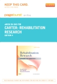 Rehabilitation Research - Elsevier eBook on Intel Education Study (Retail Access Card), 4th Edition