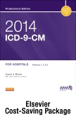 2014 ICD-9-CM for Hospitals, Volumes 1, 2, and 3 Professional Edition (Spiral bound), 2013 HCPCS Level II Professional Edition and 2014 CPT Professional Edition Package