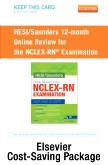 NCLEX Power Prep Package, 12 month Online Review Version - Saunders Online Review for the NCLEX-RN (1 year access) + Elsevier Adaptive Quizzing for the NCLEX-RN (36 month access) (Retail Access Cards)