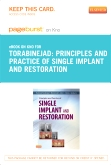 Principles and Practice of Single Implant and Restorations - Elsevier eBook on Intel Education Study (Retail Access Card)