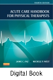 Acute Care Handbook for Physical Therapists- Elsevier eBook on Intel Education Study, 4th Edition