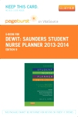 Saunders Student Nurse Planner, 2013-2014 - Elsevier eBook on VitalSource (Retail Access Card), 9th Edition