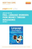 cover image - Language Disorders from Infancy through Adolescence - Elsevier eBook on Intel Education Study (Retail Access Card),4th Edition