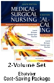 Medical-Surgical Nursing - Two-Volume Text and Elsevier Adaptive Quizzing Package, 9th Edition