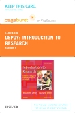 cover image - Introduction to Research - Elsevier eBook on VitalSource (Retail Access Card),5th Edition