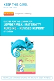 Elsevier Adaptive Learning for Maternity Nursing - Revised Reprint (Access Card), 8th Edition