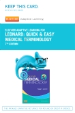 cover image - Elsevier Adaptive Learning for Quick & Easy Medical Terminology (Access Card),7th Edition