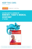 cover image - Elsevier Adaptive Learning for Today's Medical Assistant (Access Card),2nd Edition