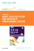 2016 ICD-10-CM Hospital Professional Edition - Elsevier eBook on VitalSource (Retail Access Card)