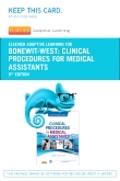 Elsevier Adaptive Learning for Clinical Procedures for Medical Assistants (Access Code), 9th Edition