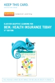 cover image - Elsevier Adaptive Learning for Health Insurance Today (Access Code),5th Edition