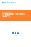 cover image - Introducton to Nursing Course Fee (NUR105)
