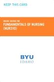 cover image - Fundamentals of Nursing Course Fee (NUR310)