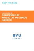 cover image - Fundamentals of Nursing Lab and Clinical Course Fee (NUR310C CF)