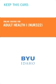 cover image - Adult Health I Course Fee (NUR322CF)