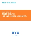 cover image - Adult Health I Lab and Clinical Course Fee (NUR322C CF)