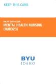 cover image - Mental Health Nursing Course Fee (NUR323CF)