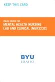 Mental Health Nursing Lab and Clinical Retail Card (NUR323C RC)