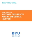 cover image - Maternal Child Health Nursing Lab-Clinical Course Fee (NUR410C CF)