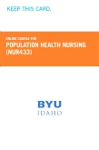 cover image - Population Health Nursing Course Fee (NUR433CF)