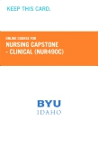 Nursing Capstone- Clinical Retail Card (NUR490C RC)