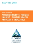 cover image - Nursing Concepts: Families in Crisis - Complex Health Problems II Retail Card (NUR2243C RC)