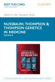 Thompson & Thompson Genetics in Medicine Elsevier eBook on Intel Education Study (Retail Access Card), 8th Edition